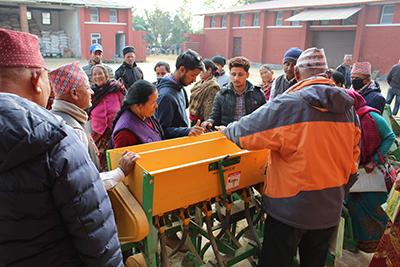 Participants at the Farmer Field School in Nepal. Photo by Suraj Karkee and Dinesh Marasini