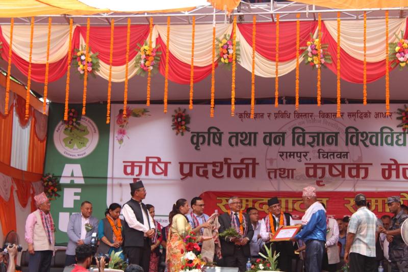 Progressive Nepalese wheat farmers celebrated at fair