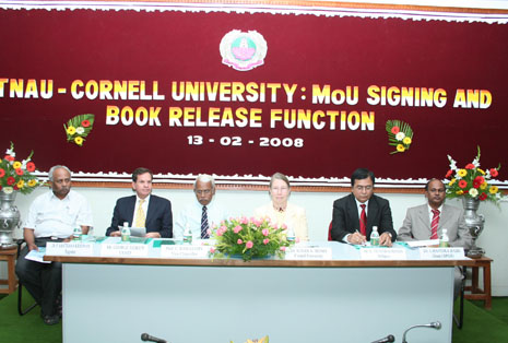 TNAU – Cornell University sign MOU for Integrated MPS-MTech Programme