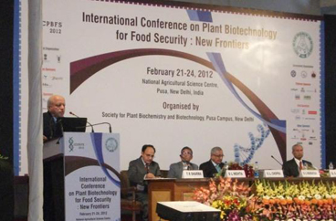 ABSPII takes part in the exhibition held during the International Conference on Plant Biotechnology for Food Security: New Frontiers