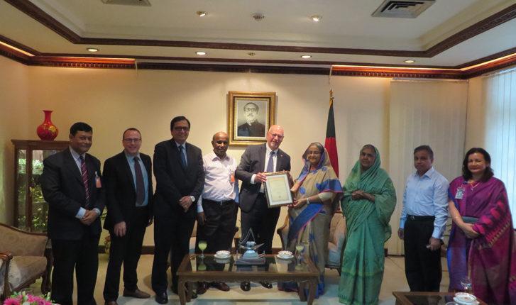 Sathguru participates in a delegate level discussion with Prime Minister of Bangladesh