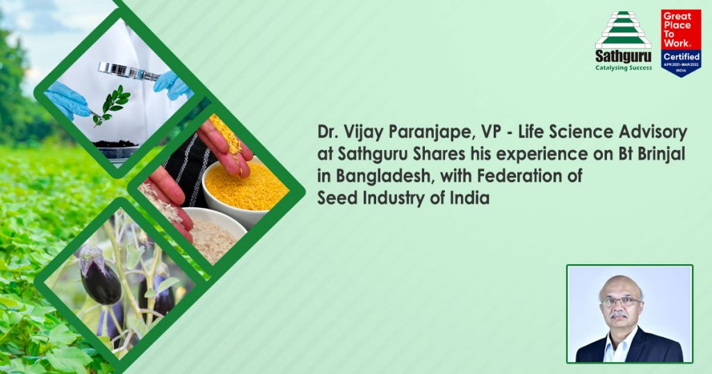 Dr. Vijay Paranjape from the Ag team at Sathguru in an interview with Federation of Seed Industry of India