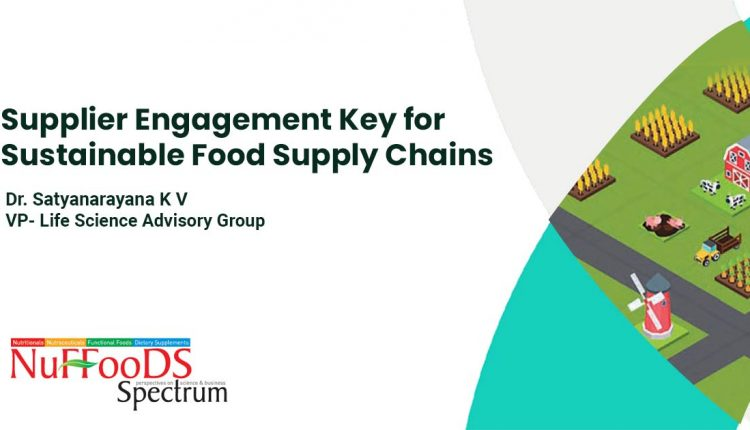 Supplier Engagement Key for Sustainable Food Supply Chains