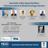 Webinar on Australia India Opportunities: Pharmaceutical & Biotechnology Sectors